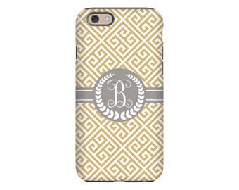 Monogram iPhone 7 case, greek key iPhone 7 plus case, iPhone 6s case, monogram iPhone 6 case, iPhone 6 Plus case/5s case, 3D iPhone SE case