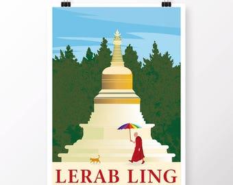 Lerab Ling Stupa Poster