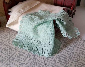 Miniature crochetlace blanket