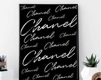 Chanel Typography Print // Minimalist // Wall Art // Typography // Scandinavian // Modern Office // Fashion Poster // Makeup // Modern