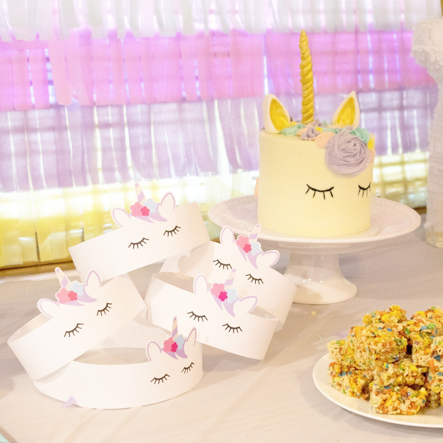 Unicorn Party Hat Crown Favor