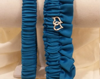 Blue Bridal Garter Set