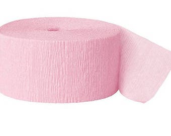 81ft Pink  Crepe Paper Streamers