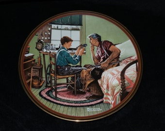 """1989 Knowles The Ones We Love """"The Inventor and the Judge"""" Collector Plate by Norman Rockwell"""