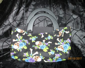 Skull and Flower Purse