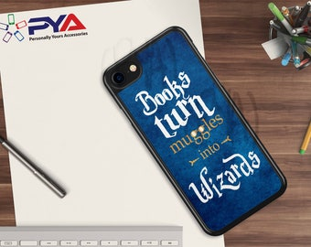 Harry Potter Phone Case - Books turn Muggles into Wizards - for Apple iPhone & iTouch Devices Harry Potter iPhone Case