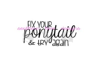 how to fix a ponytail