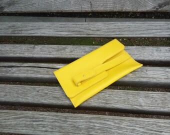 Yellow clutch bright clutch leather clutch woman holder handmade bag evening bag modern clutch stylish cutch fashion clutch travel holder