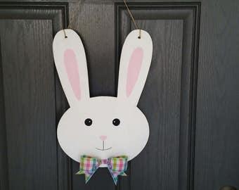 Easter Bunny Head Doorhanger