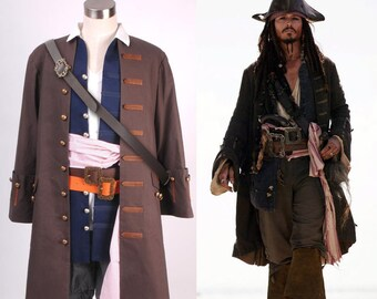 Pirates of the Caribbean Jack Sparrow Costume Cosplay