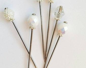 Sale~6PCS/8PCS 5Cm Long Mini Hijab Pin Set~Vintage Inspired