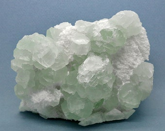 Green Fluorite Crystal Cluster with Quartz – 872g