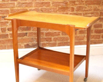 Danish influenced mid century teak drinks trolley/cart by Remploy