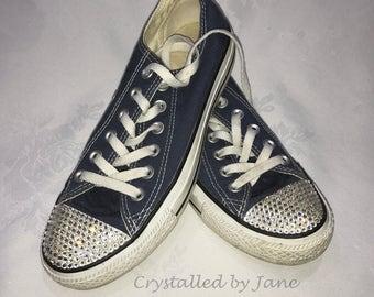 SWAROVSKI crystallised toe Converse - let me bespoke YOUR Converse!
