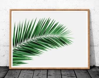 Palm Leaf Art, Tropical Leaf Art, Palm Leaf Art Print, Palm Leaf Printable Art, Tropical Leaf Wall Art, Tropical Print Art Palm Tree Print