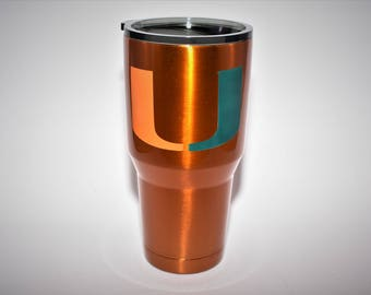Miami Hurricanes Yeti Canes Ozark Miami Ozark Canes Yeti Canes gifts for him hurricanes gifts miami gifts for him hurricanes cup tumbler