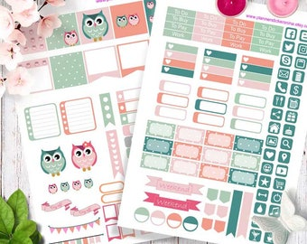 MINI Happy planner stickers, Printable Planner Stickers