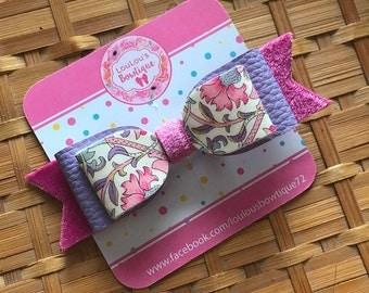 Floral velvet bow