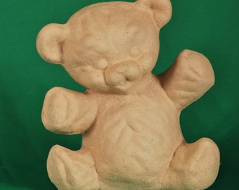 Paper Mache Teddy by BARE NAKED CRAFTS