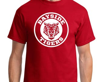 """Retro Classic Saved By The Bell """"Bayside Tigers"""" Logo Tees (Unisex or Laies Fits)"""