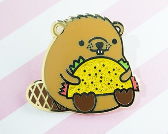 Taco Time Beaver! – Hard Enamel Pin