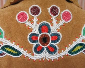 Vintage Moose hide Beaded Coat