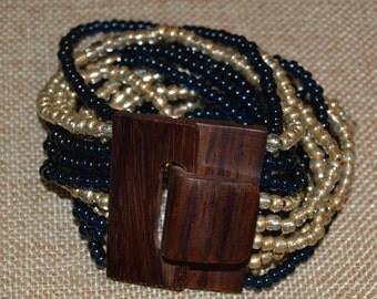 Multi-strand buckle bracelet