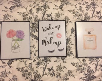 Framed vintage inspired prints