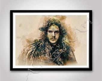 Jon Snow Game of thrones Instant Download Digital Print Kit Harington 2 JPG Friend Sister Best friend Girl friend Daughter Gift idea room