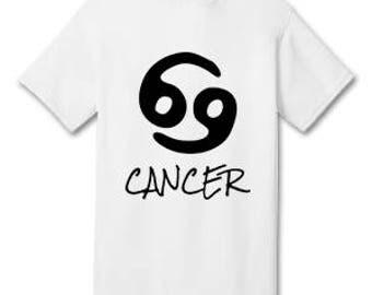 CANCER 100% Cotton Tee Shirt #H003