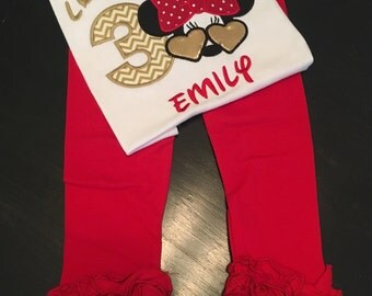 Minnie Mouse Inspired Birthday Outfit - with or without the Birthday number