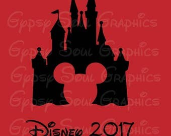 Disney  2017 Silhouette SVG Cricut Cut File Digital Instant Download Vacation Trip
