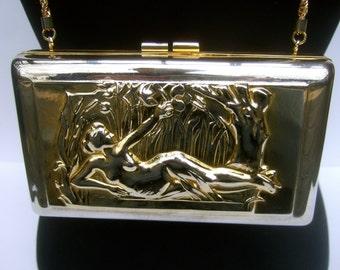 Opulent Gilt Metal Figural Evening Bag