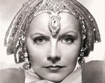 Greta Garbo Mata Hari Film Actress Glossy Black & White Photo Picture Print A4