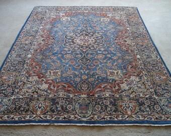 8'3''x10'10'' Large Persian Rug, Handwoven Kerman Rug, Mid-Century Oriental Rug
