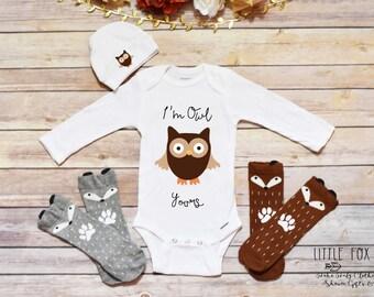 Cute Onesie®, Owl Onesie®, Baby Boy Onesie®, Baby Girl Onesie®, Baby Shower Gift, Newborn Outfit