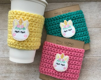 Unicorn Cup Cozy, cup cozy, reusable cup sleeve, teacher gifts, birthday gifts, iced coffee holder