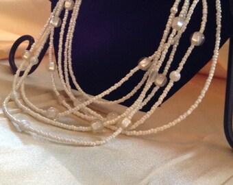 Cream Multistrand Necklace