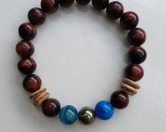 Men bracelet. Natural stone.