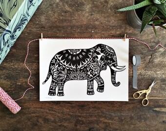 Elephant A4 digital print