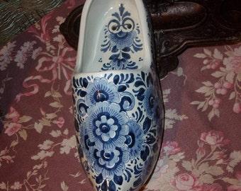 big old shoe or vintage Delft earthenware