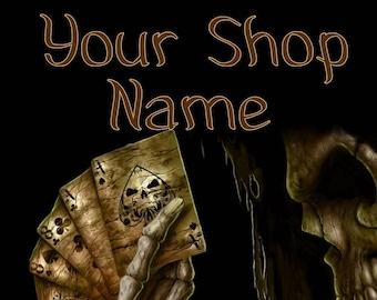 Deadly Cards Banner, Shop Banner Set, Digital Graphics, Shop Banner, Custom Banner, Graphic Design, Banner Design, Premade Banner