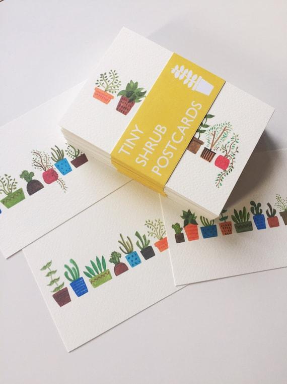 Tiny Shrub Postcards