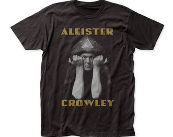 Impact Originals Aleister Crowley Soft 30/1 Men's Cotton Fitted Tee (IMP133) Black