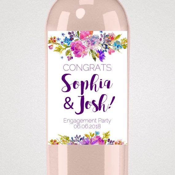 garden engagement wine label template a purple printable engagement