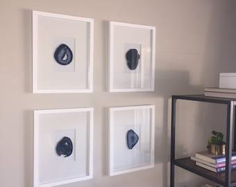 Custom Framed Agate Slice • Build Your Own • 11x14 Frame