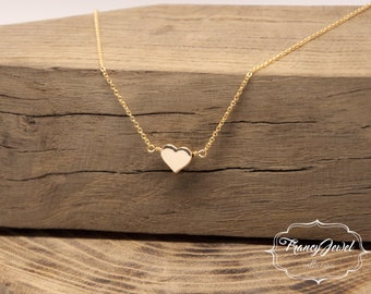 Heart necklace, silver necklace, gold necklace, made in Italy, birthday gifts, engagement gift, Valentine's gift, handmade jewelry