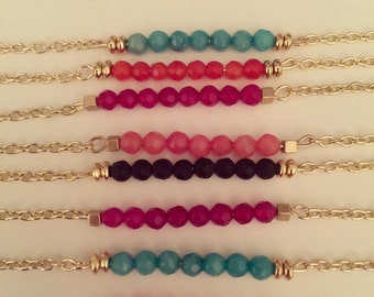 """14 1/2"""" with 2"""" extender on gold chain (choose your color)"""