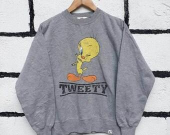 Rare Vintage Tweety Bird Sweatshirt Looney Tunes Nice Design