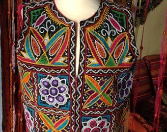 SUPER Embroidered Mirrored Indian Ethnic Vest